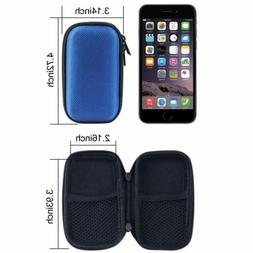 2pcs earphone storage case bag zipped earbud