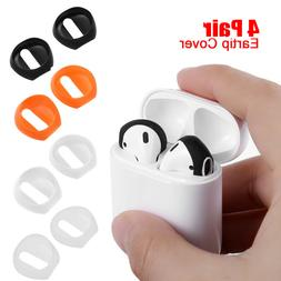 4 Pair Anti Slip Earbud Silicone Case Earphone Tips For Appl