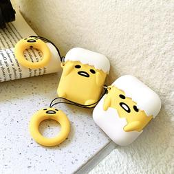 Airpods Protect Case Cute Gudetama Doll Lazy Egg Cover for A