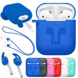 For Apple AirPods 2nd Gen Shockproof TPU Rubber Skin Case wi