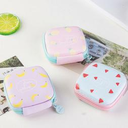 Mobile Headphone Pouch Square Carrying Case Earphone Earbuds