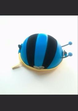 Blue Bumble Bee Coin Case Airpod Holder Earbud Holder Coin P