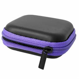 cellphone earphone earbuds square carrying cases storage