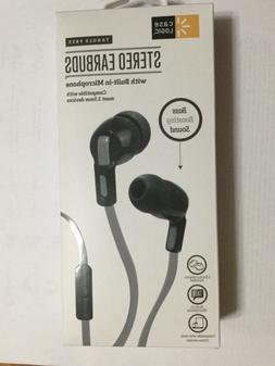 Case Logic Earbuds Tangle Free Stereo Earbuds, Built in Mic