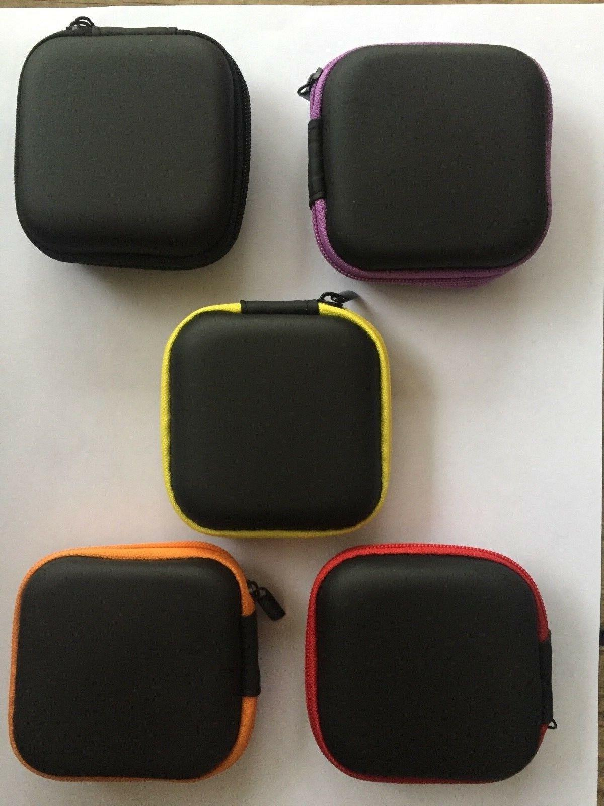 2 Large Small Earbud Carrying Bag