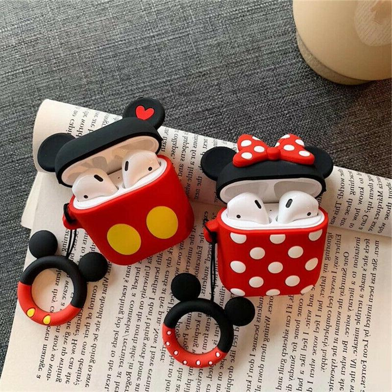 disney wireless bluetooth earbuds silicone protective case