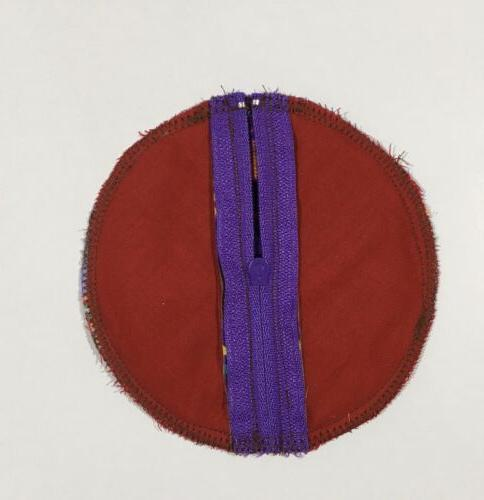 Earbud fabric 4x4, with zipper clasp, PURPLE