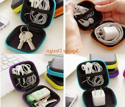 Mini Zippered Earbud Protective USB Cable