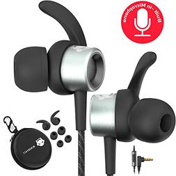 Noise Cancelling Headphones Wired Earbuds Kids Adults Microp