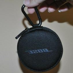 Original Bose Earbud Case, Zipper, Round, Carrying Carabiner
