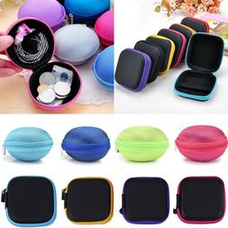 Mini Travel Earphone Pouch Case USB Cable Earbuds Storage He