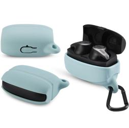 Silicone Protective Case Cover with Carabiner for Jabra Elit