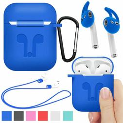 Silicone Ruggged Impact Case + Earbuds For Apple AirPods 2nd