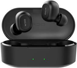QCY T2C True Wireless Earbuds with Charging Case, TWS 5.0 Bl