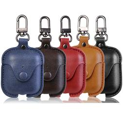Wireless Bluetooth Earphone Leather Case Cover For Apple Air
